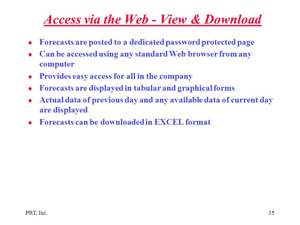 Access via the Web - View & Download