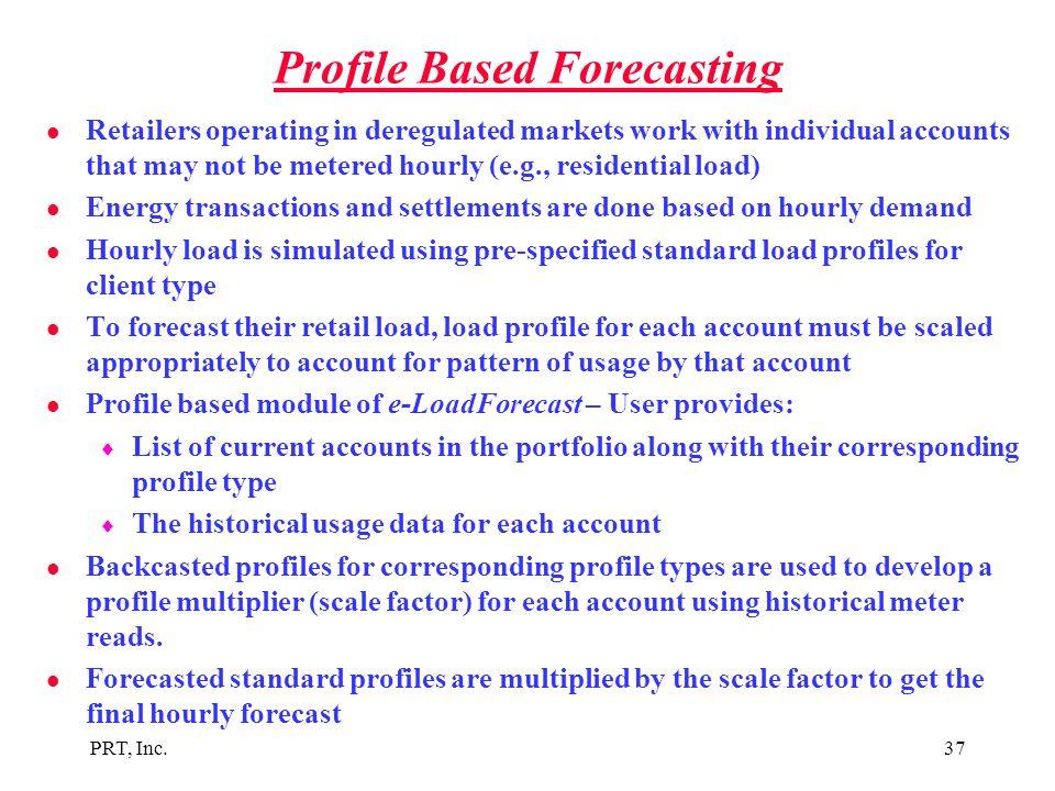 Profile Based Forecasting