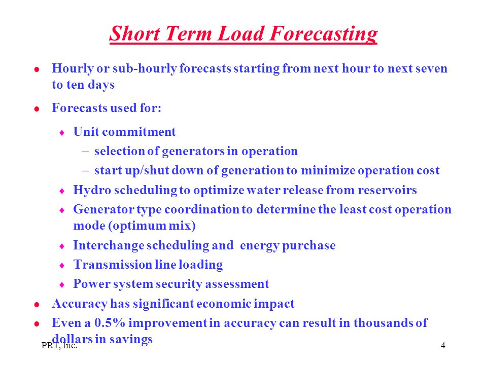Short Term Load Forecasting