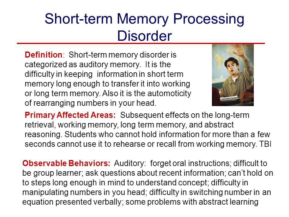 Short-term Memory Processing Disorder