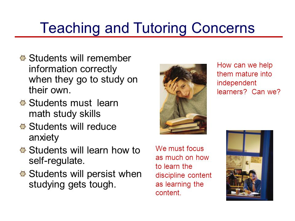 Teaching and Tutoring Concerns