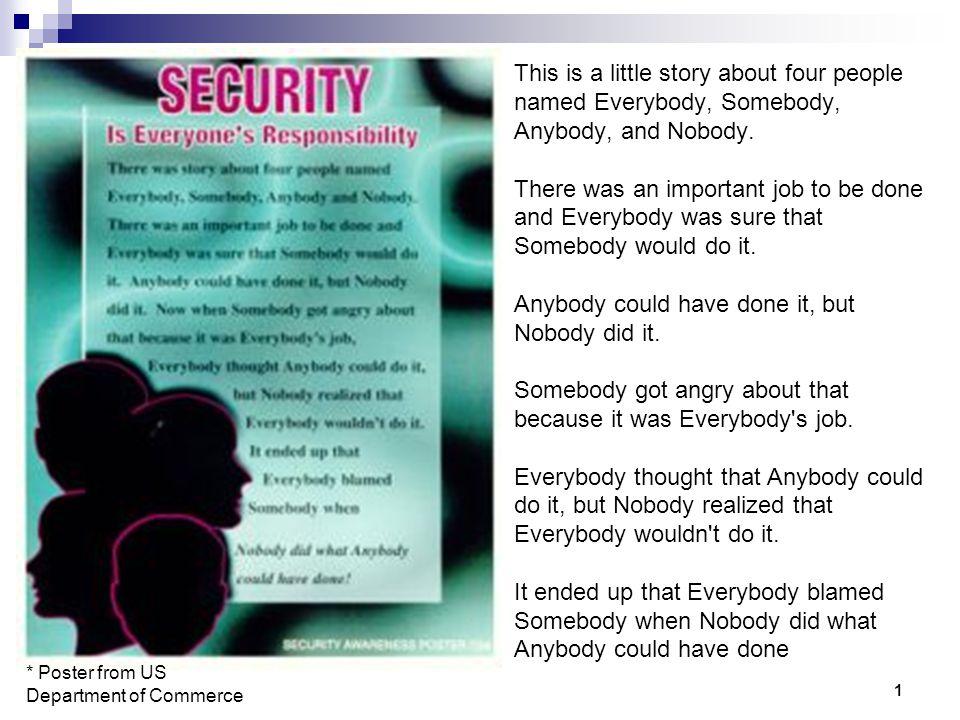 everybodys responsibility is nobodys responsibility essay Everybodys business is nobodys business by defoe, daniel 9781419118722 - everybody's business is nobody's business by daniel defoe isbn 10: 1419118722.