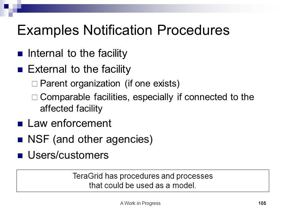 Examples Notification Procedures