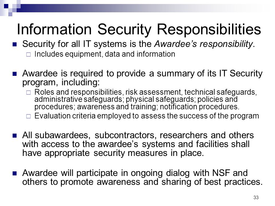 Information Security Responsibilities