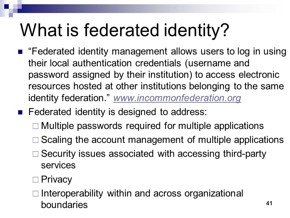 What is federated identity