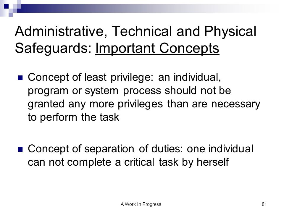 Administrative, Technical and Physical Safeguards: Important Concepts