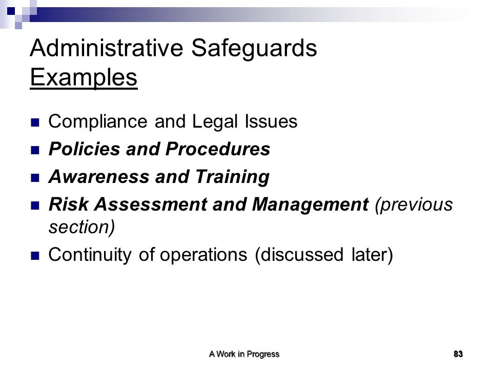 Administrative Safeguards Examples