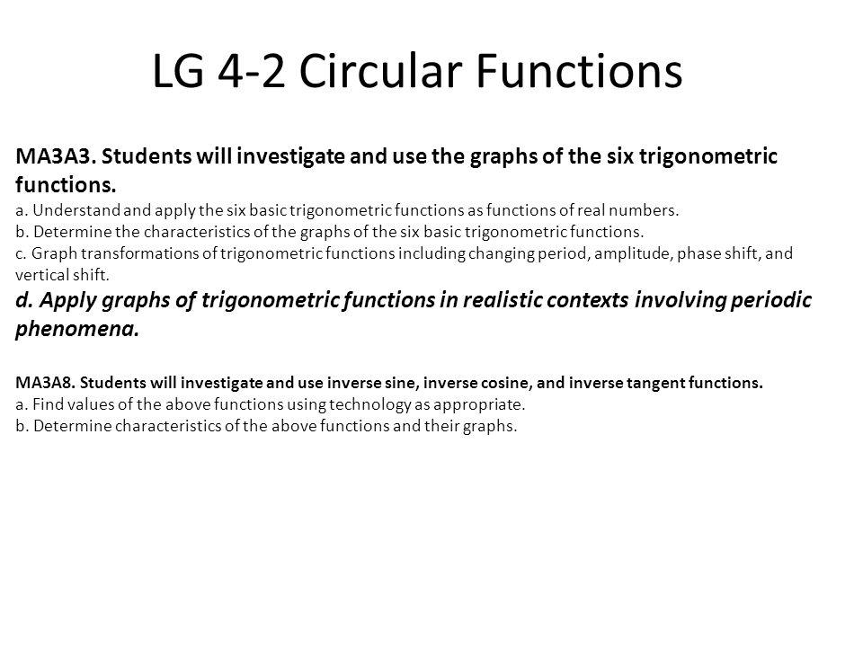 LG 4-2 Circular Functions