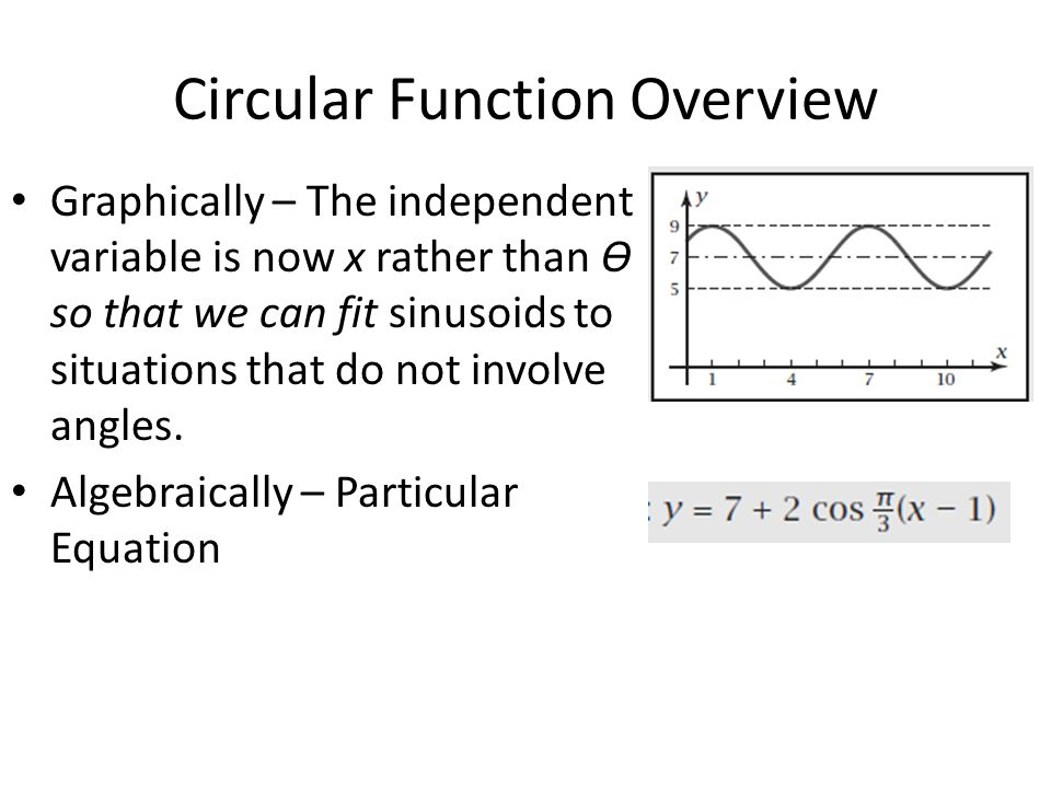 Circular Function Overview