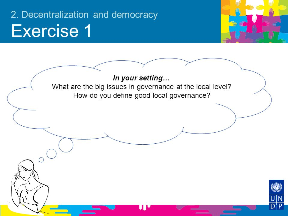 2. Decentralization and democracy Exercise 1
