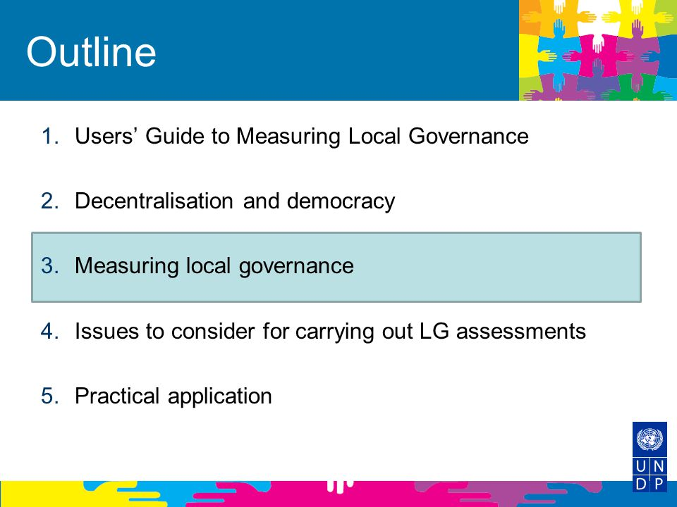 Outline Users' Guide to Measuring Local Governance
