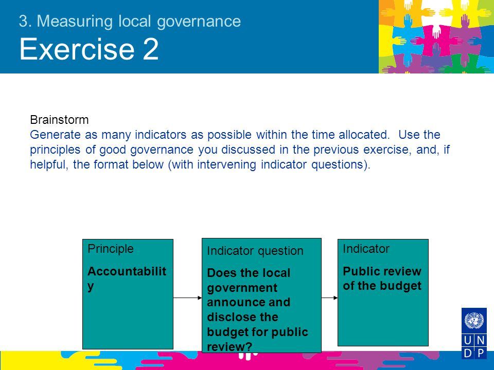 3. Measuring local governance Exercise 2