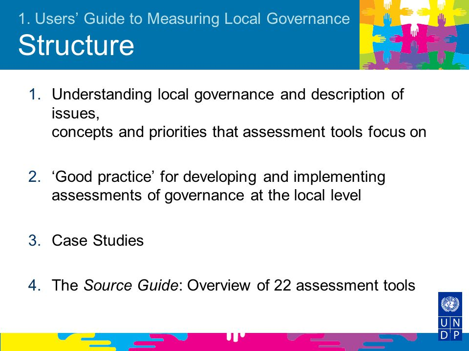 1. Users' Guide to Measuring Local Governance Structure