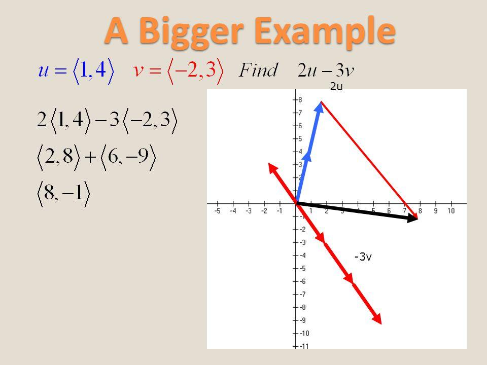A Bigger Example 2u -3v