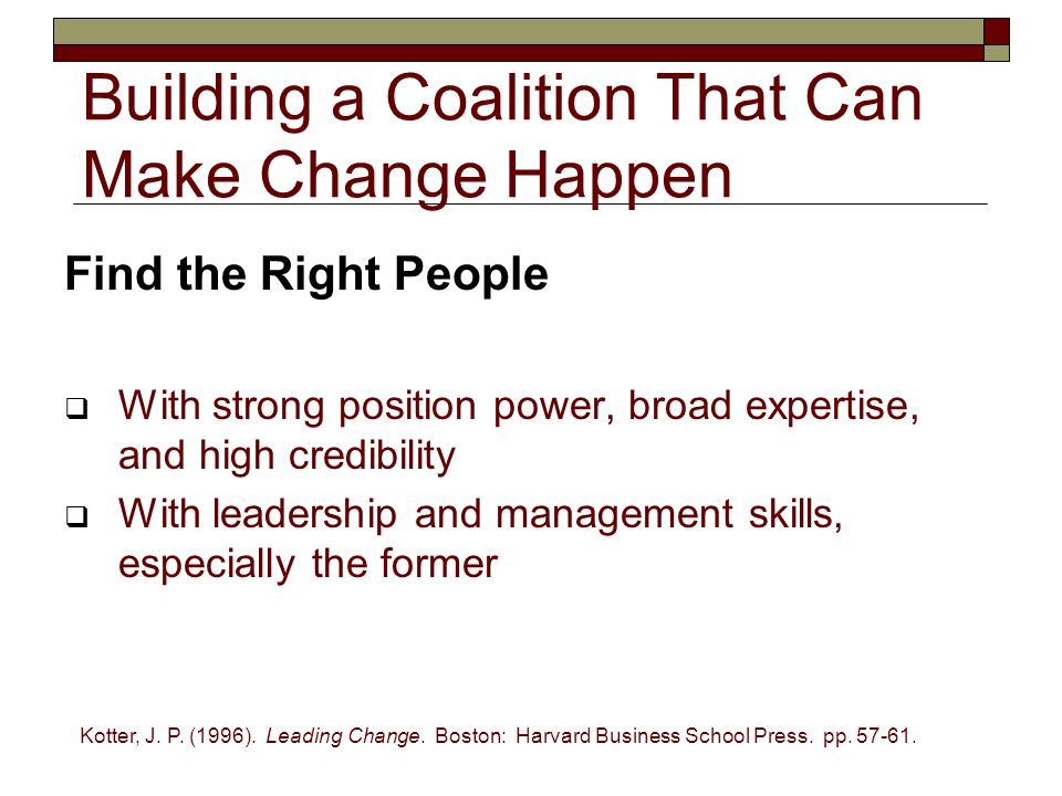 Building a Coalition That Can Make Change Happen