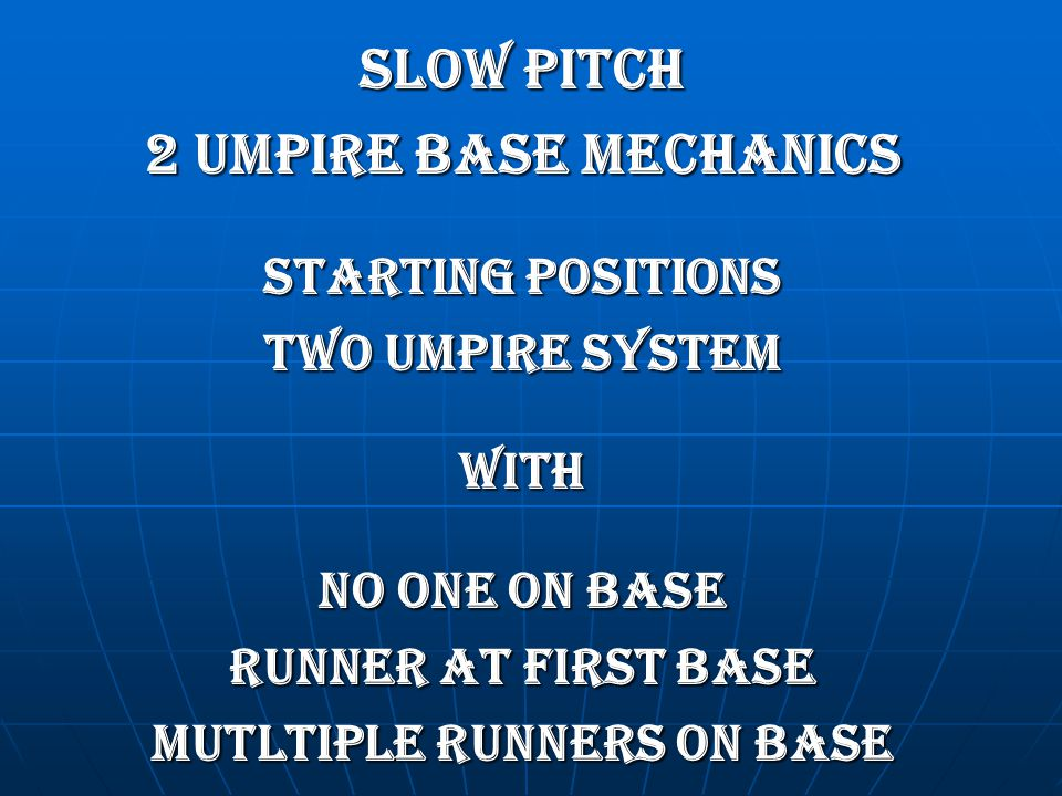 MUTLTIPLE RUNNERS ON BASE