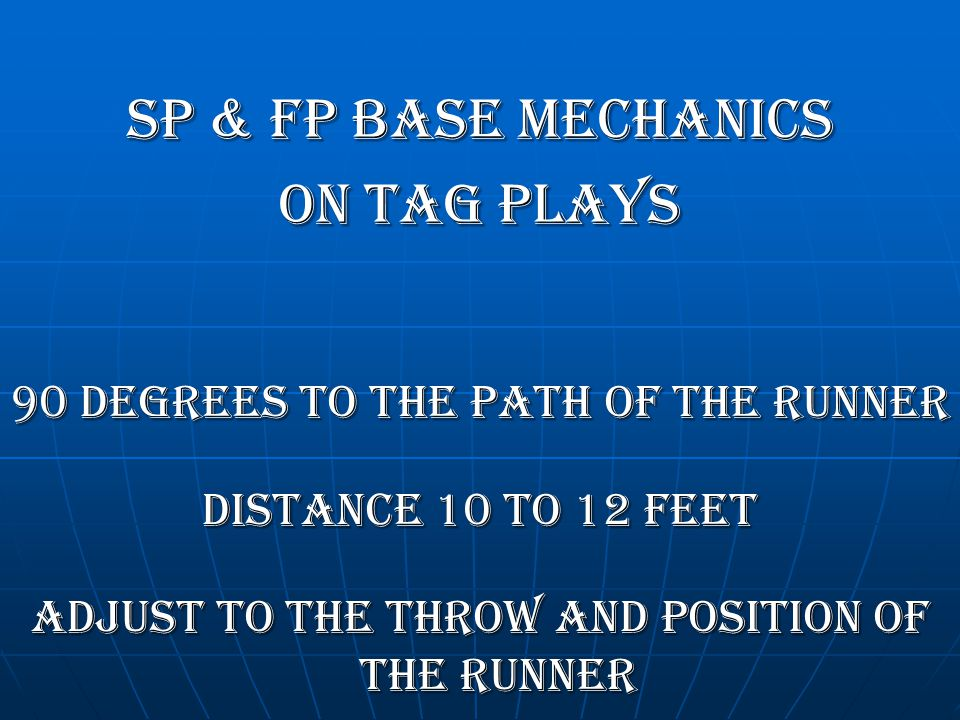 SP & FP BASE MECHANICS On TAG PLAYS