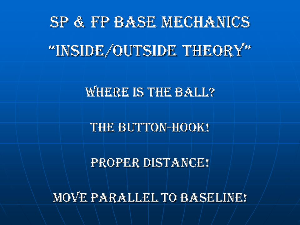 INSIDE/OUTSIDE THEORY