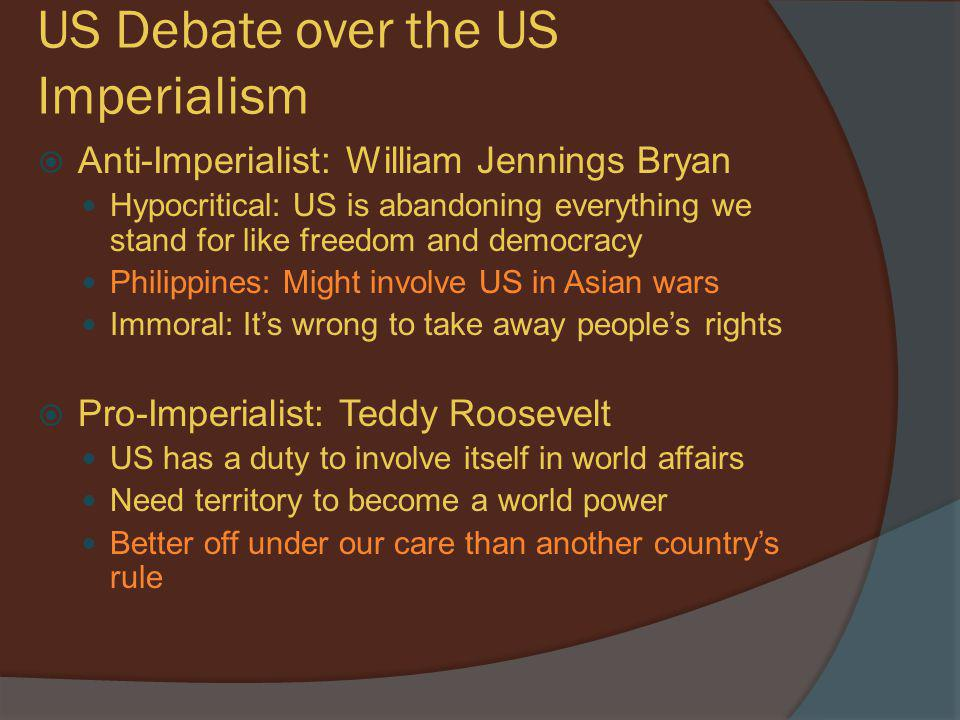 US Debate over the US Imperialism