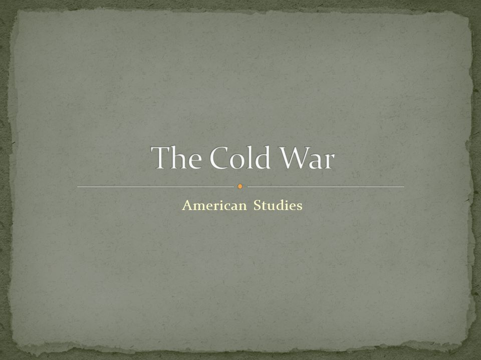 The Cold War American Studies