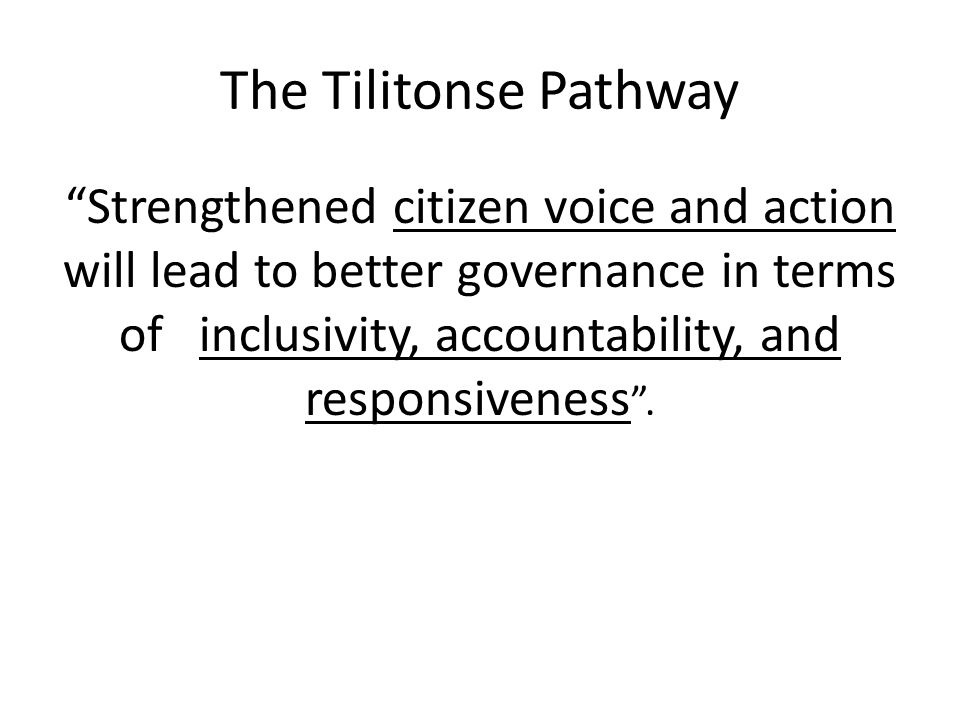 The Tilitonse Pathway