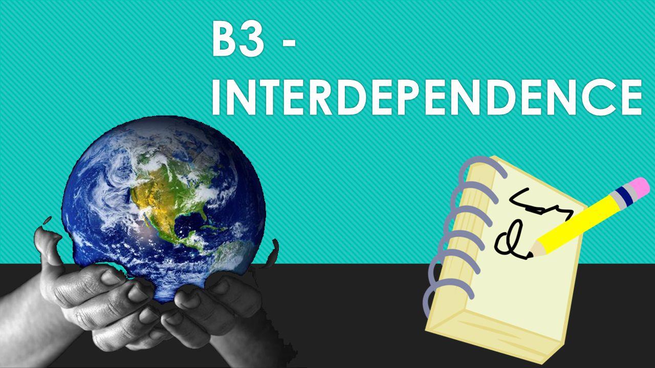 B3 -INTERDEPENDENCE