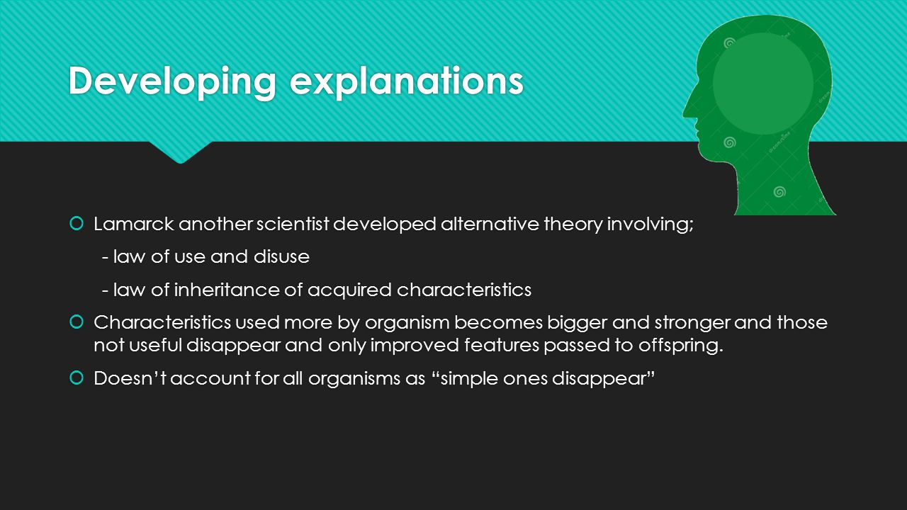 Developing explanations