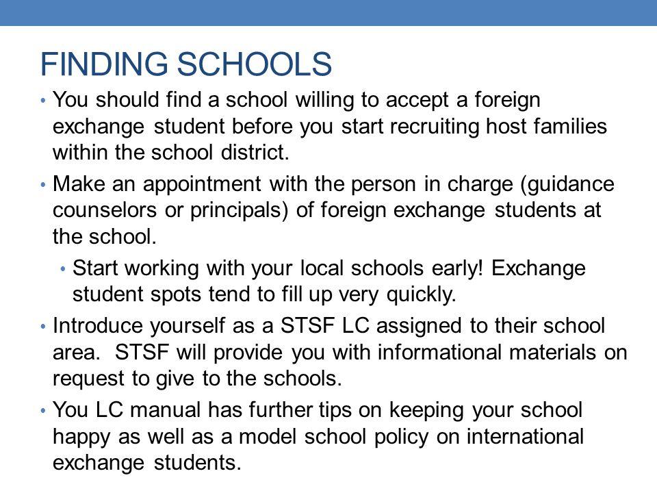 FINDING SCHOOLS