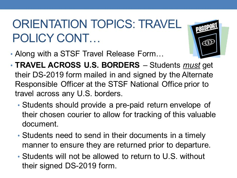 ORIENTATION TOPICS: TRAVEL POLICY CONT…