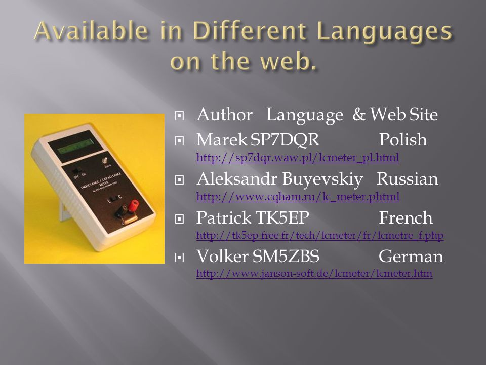 Available in Different Languages on the web.
