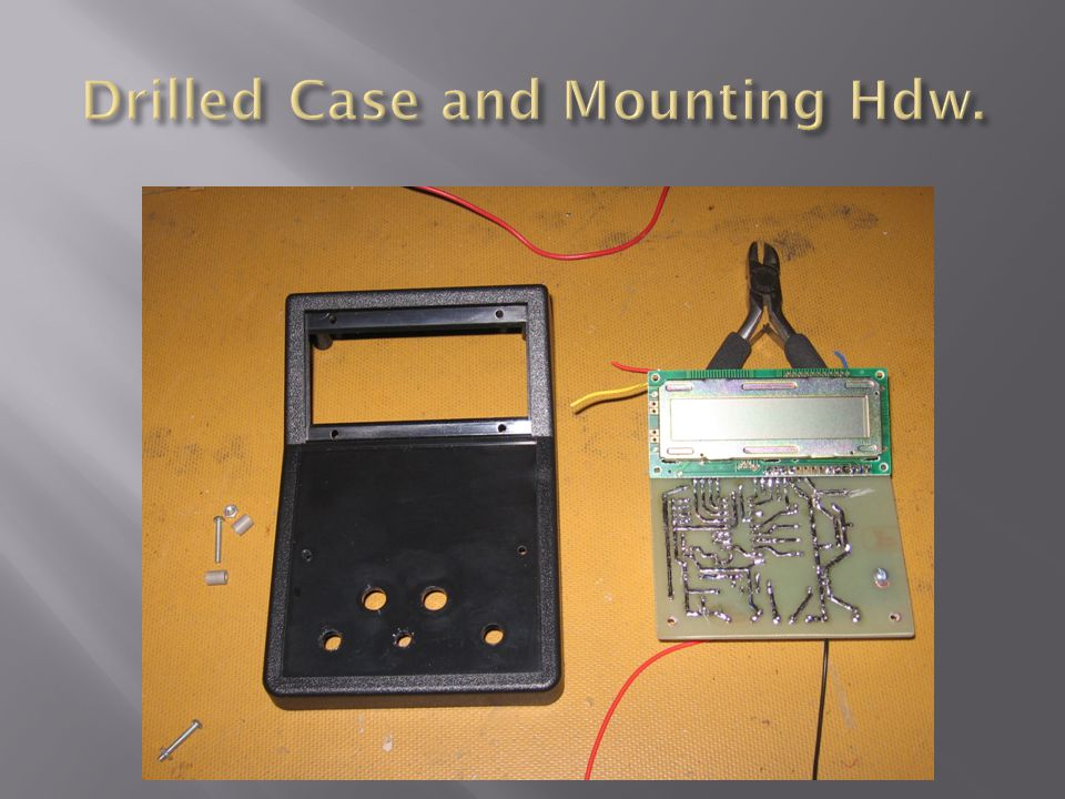 Drilled Case and Mounting Hdw.