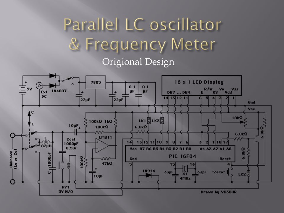 Parallel LC oscillator & Frequency Meter
