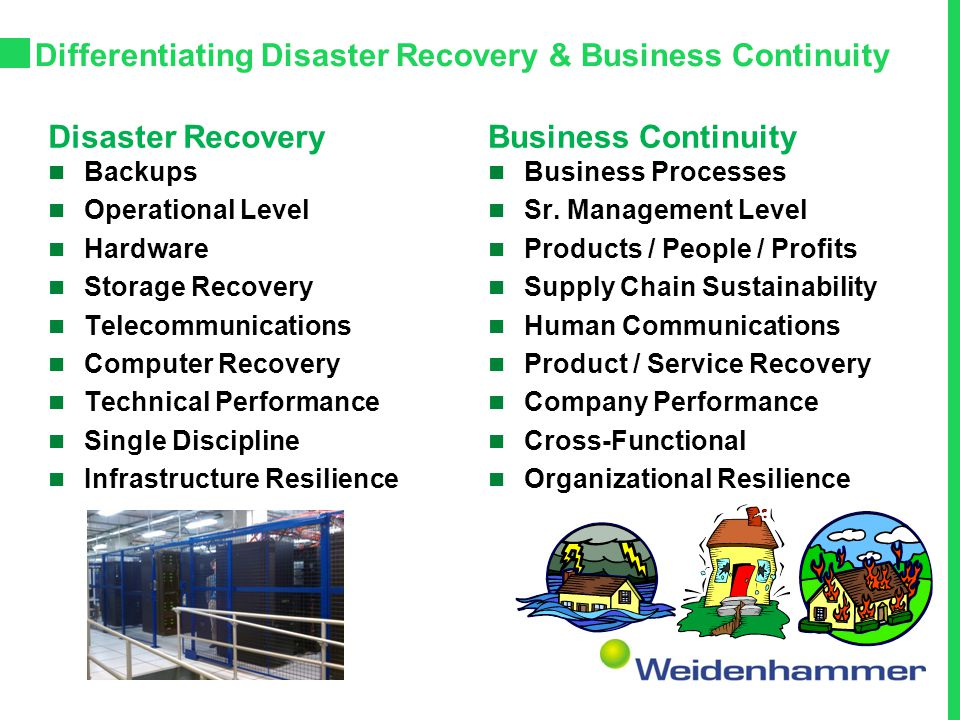 Differentiating Disaster Recovery & Business Continuity