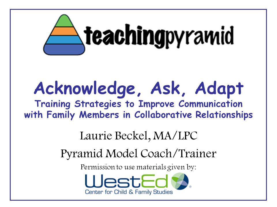 The Teaching Pyramid Promotes Social-Emotional Competence
