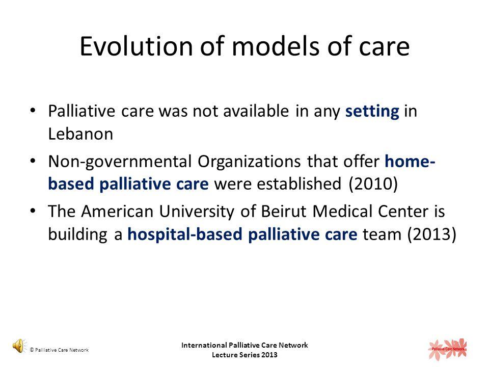 Evolution of models of care