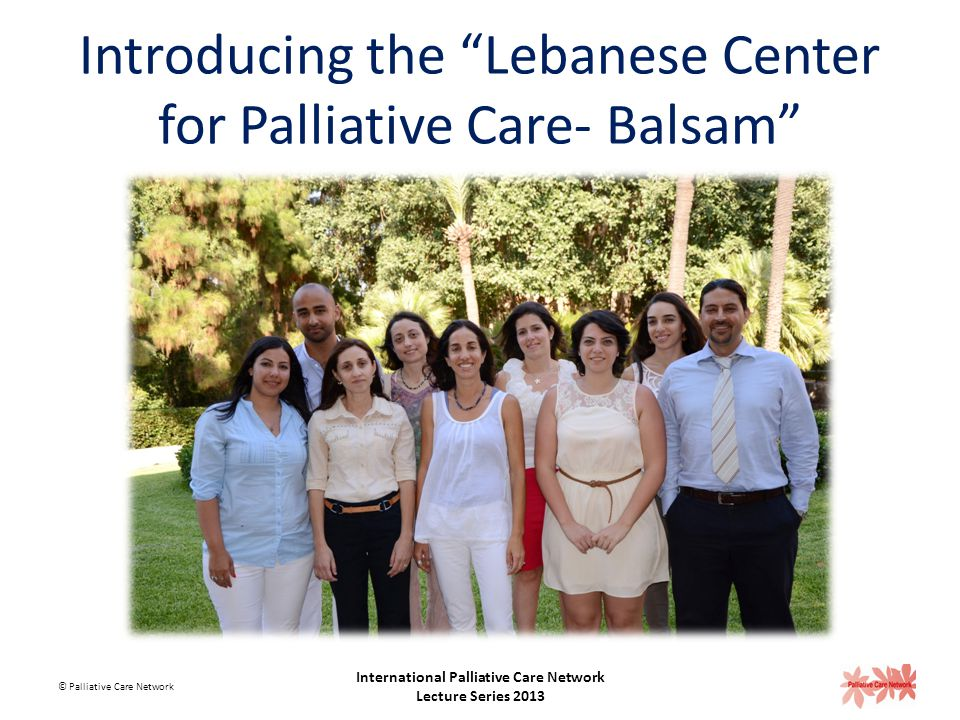 Introducing the Lebanese Center for Palliative Care- Balsam