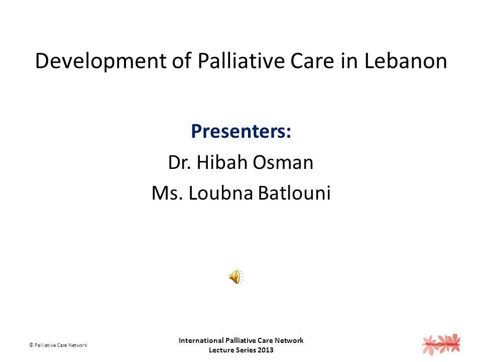 Development of Palliative Care in Lebanon