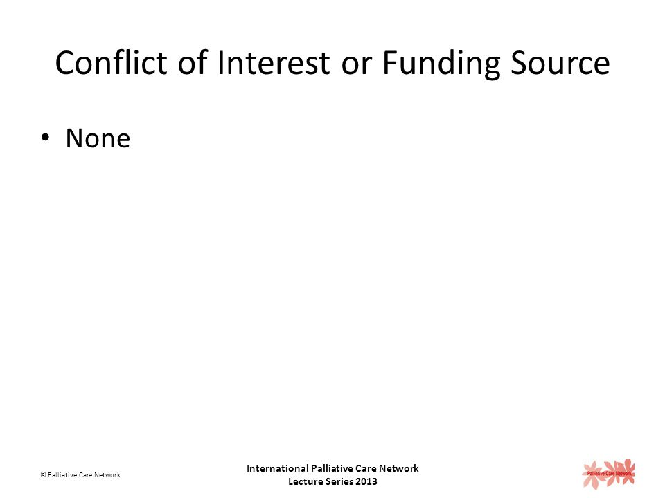 Conflict of Interest or Funding Source