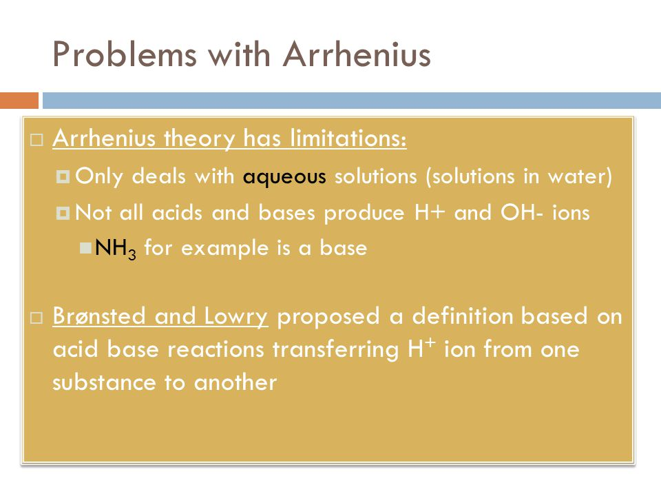Problems with Arrhenius