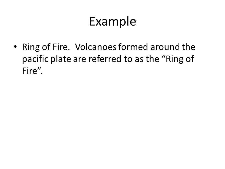 Example Ring of Fire.