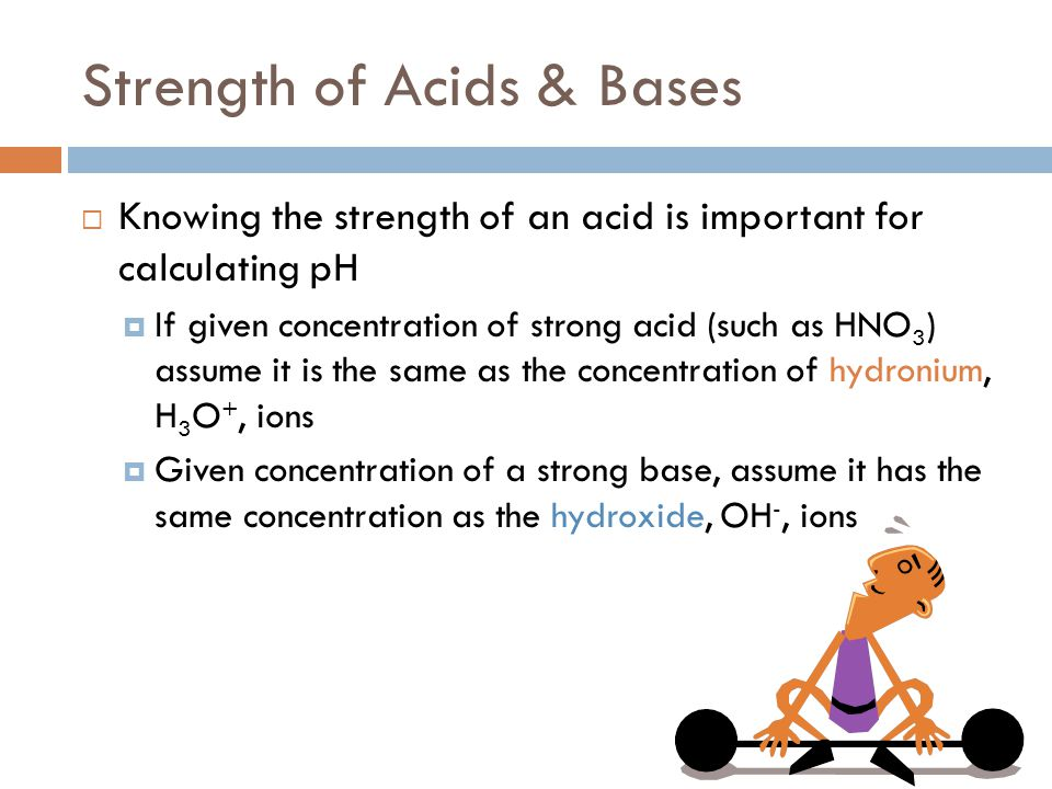 Strength of Acids & Bases