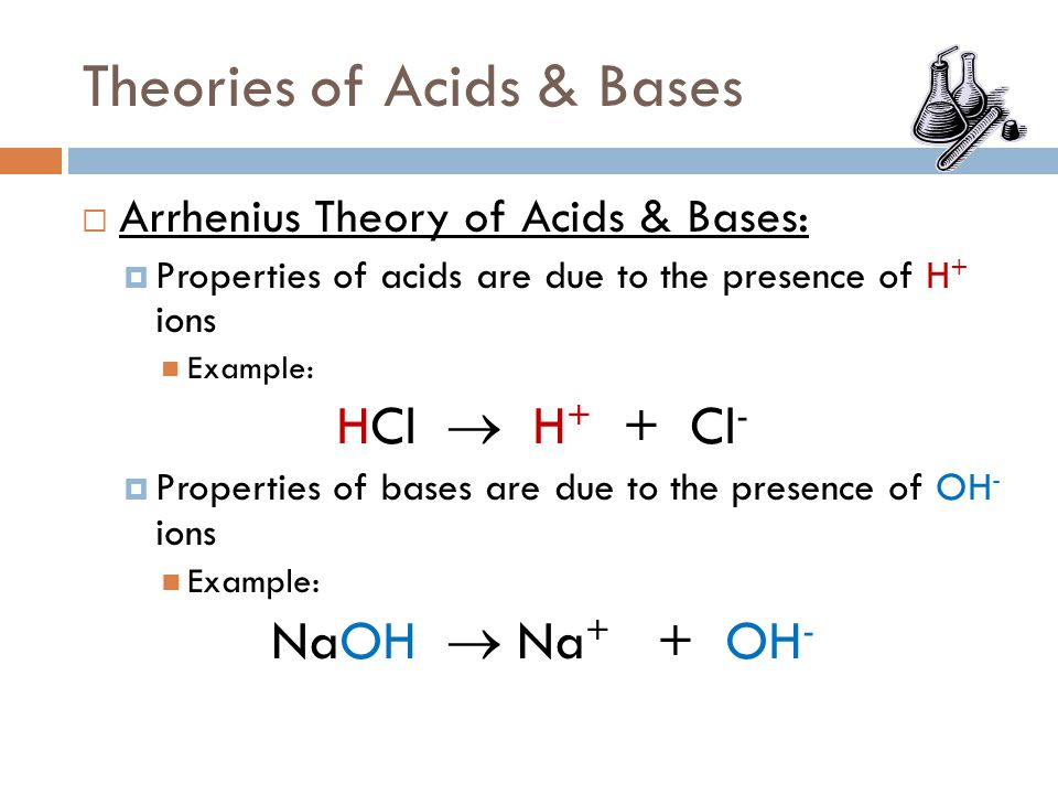 Theories of Acids & Bases