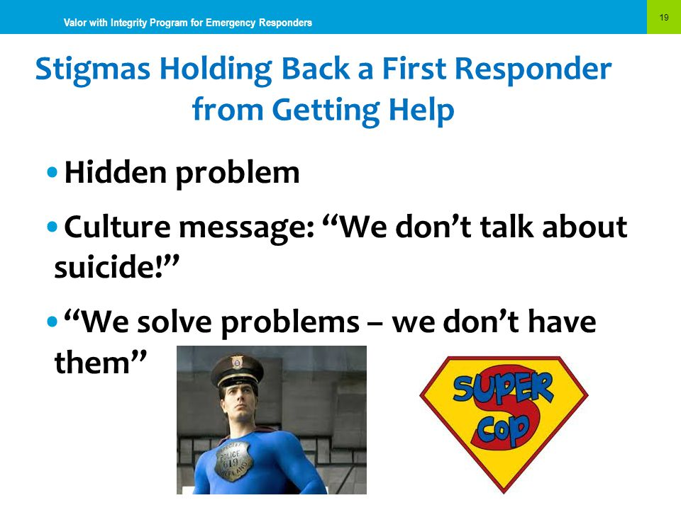 Stigmas Holding Back a First Responder from Getting Help
