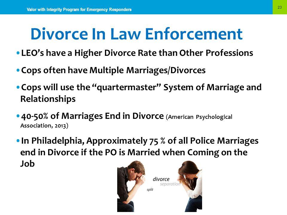 Divorce In Law Enforcement