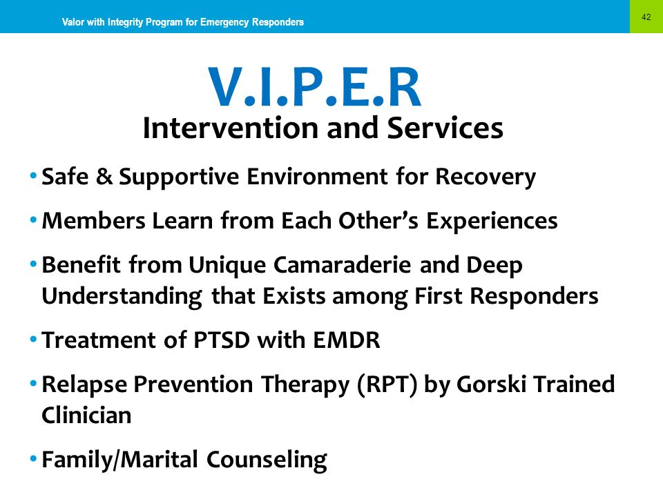 Intervention and Services