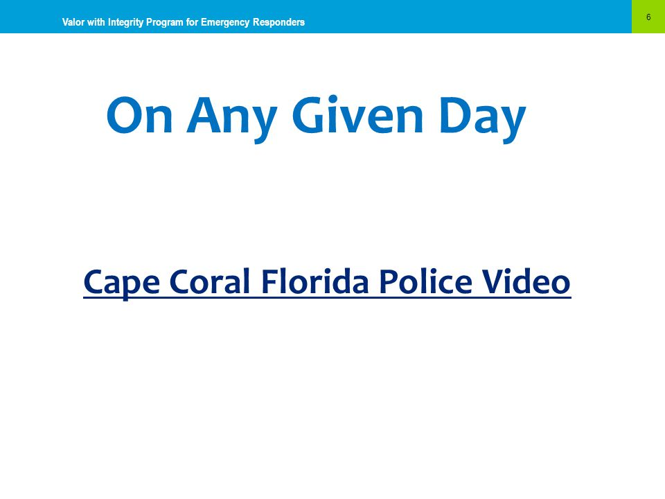 Cape Coral Florida Police Video