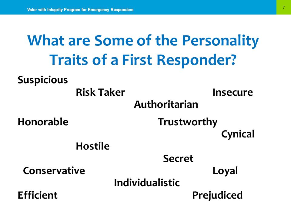 What are Some of the Personality Traits of a First Responder