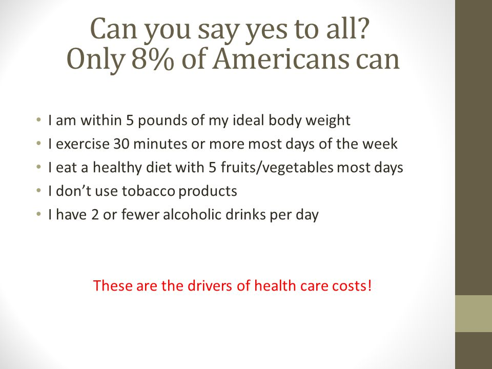 Can you say yes to all Only 8% of Americans can