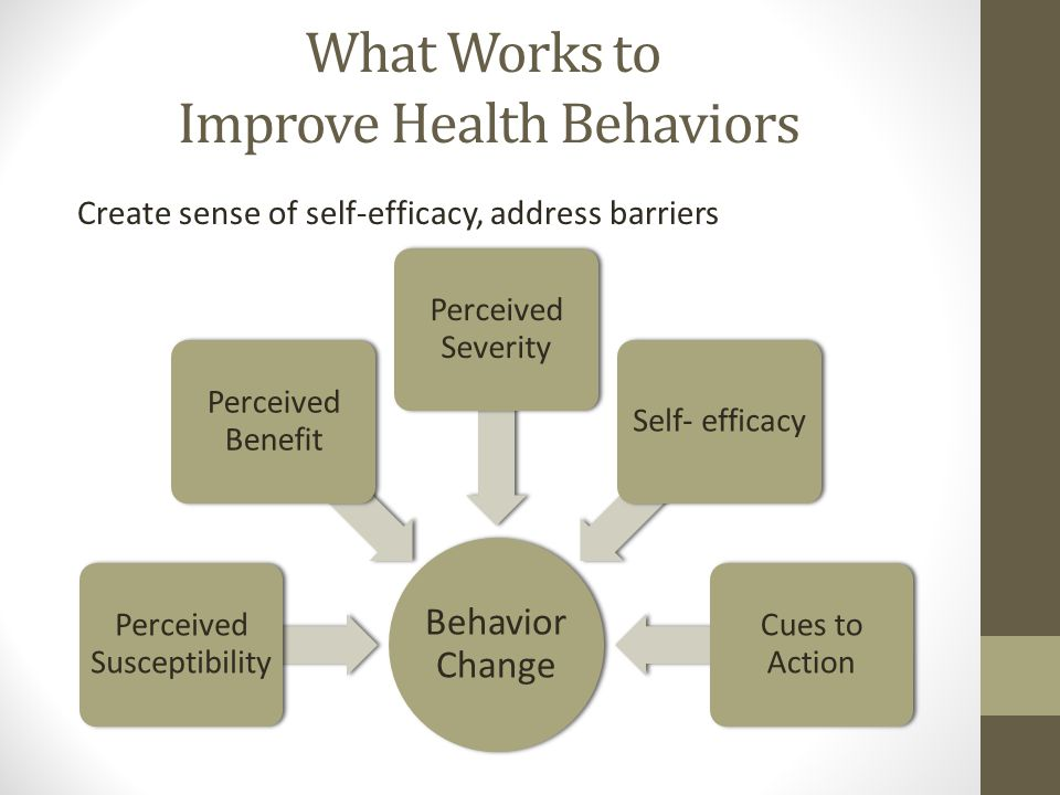 What Works to Improve Health Behaviors