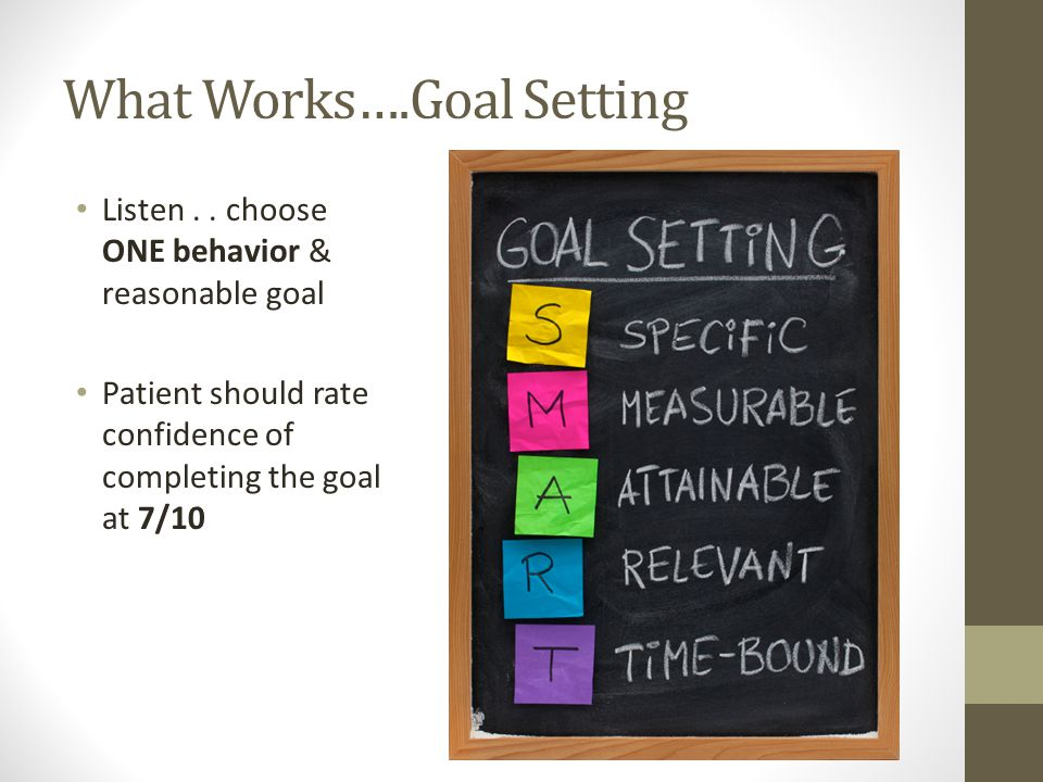 What Works….Goal Setting